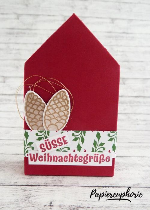 Süße Weihnachtsgrüße.Häuschen Süße Weihnachtsgrüße Astrids Papiereuphorie