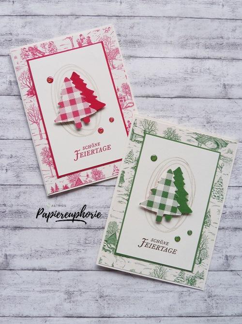 einfache weihnachtskarten landhausweihnacht astrids. Black Bedroom Furniture Sets. Home Design Ideas